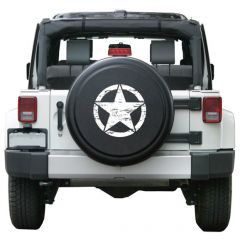 Boomerang Enterprises Distressed Star Rigid Tire Cover in Textured Black RG-