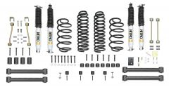 "Quadratec Maximum Duty 3.5"" Coil Spring Suspension Lift Kit with Shocks for 97-06 Wrangler TJ & Unlimited"