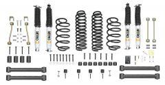 "Quadratec Maximum Duty 3.5"" Coil Spring Suspension Lift Kit with Shocks for 97-06 Wrangler TJ & Unlimited"
