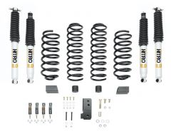 "Quadratec Maximum Duty 2.5"" Coil Spring Suspension Lift Kit with Shocks for 07-18 Jeep Wrangler JK 2 Door"