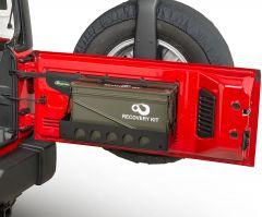 Quadratec Tailgate Cargo Shelf with 40mm Ammo Storage Can for 07-18 Jeep Wrangler JK, JKU 12226.3001