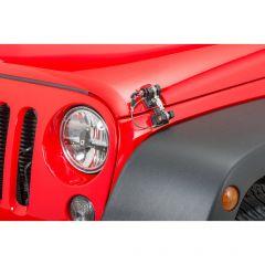 DV8 Offroad Locking Hood Hold Downs for 07-18 Jeep Wrangler JK, JKU D-JP-190001-LK