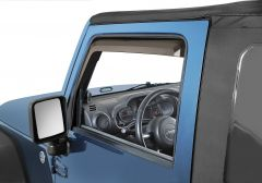 Quadratec 2pc Window Visors for 07-18 Jeep Wrangler JK 11063.9100