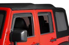 Quadratec 4pc Window Visors for 07-18 Jeep Wrangler JK Unlimited 11063.9101