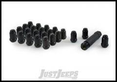 "Gorilla Automotive Spline Drive Black Chrome 5 Lug Kit (1/2"" Thread Size, Pack Of 24) 21184BC"