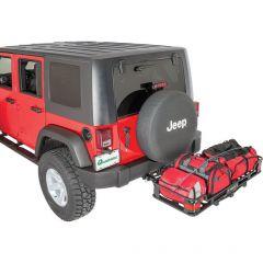 """VersaHitch 2"""" Receiver Hitch with Wiring Kit, Jeep Logo Plug & Cargo Rack for 07-18 Jeep Wrangler JK, JKU 12015LOGO-"""