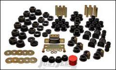 Energy Suspension Hyper Flex Master Bushing Set In Black For 1987-1995 Jeep Wrangler YJ 2.18101G
