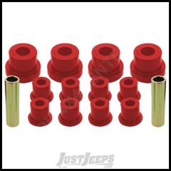 Energy Suspension OE Front Leaf Spring Bushings w/factory shackle Red For 76-86 Jeep CJ 2.2102R