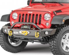 LoD Offroad Offroad Signature Series Mid-Width Front Winch Bumper with Bull Bar for 07-18 Jeep Wrangler JK JFB0743