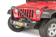 LoD Offroad KIT Offroad Signature Series Shorty Front Winch Bumper with Stinger Bar for 07-18 Jeep Wrangler JK