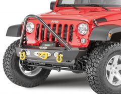 LoD Offroad KIT Offroad Signature Series Shorty Front Winch Bumper with Stinger Bar for 07-18 Jeep Wrangler JK with a PowerPlant Winch 12068.2102