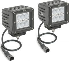 """Quadratec 3"""" Cube LED with Wiring Harness & Windshield Mounting Brackets for 97-06 Jeep Wrangler TJ & Unlimited 97109TJ3-"""
