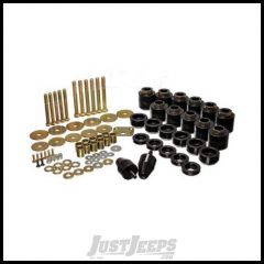 """Energy Suspension 1"""" Poly Body Lift in Black For 1997-06 Jeep Wrangler TJ 2.4108G"""