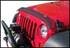 Auto Ventshade Bug Deflector II Hood Deflector In Smoked Black For 2007-18 Jeep Wrangler JK 2 Door & Unlimited 4 Door Models 24901