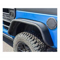 Aries Automotive Rear Tubular Fender Flares In Texture Black For 2007-18 Jeep Wrangler JK 2 Door & Unlimited 4 Door Models 2500201