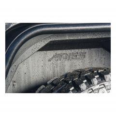 Aries Automotive Rear Inner Fender Liners In Black For 2007-18 Jeep Wrangler JK 2 Door & Unlimited 4 Door Models 2500350