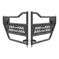 Aries Automotive Tubular Rear Doors In Textured Black For 2007-18 Jeep Wrangler JK Unlimited 4 Door Models 25009