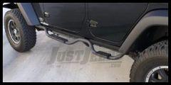 Rampage Side Nerf Bar Pair For Drop Step Slimline 2-inch Bar Black Textured For 2007+ Jeep Wrangler JK Unlimited 4 Door 26628