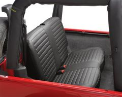 BESTOP Rear Bench Seat Cover In Black Denim For 1997-02 Jeep Wrangler TJ 29221-15