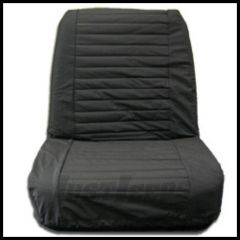 BESTOP Low Back Front Seat Covers In Black Denim For 1965-80 Jeep CJ-5 & CJ-7 29225-15