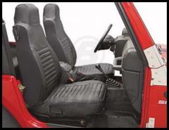 BESTOP Front Seat Covers In Black Diamond For 2003-06 Wrangler TJ/TLJ Unlimited Models 29228-35