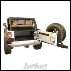 Tuffy Products Security Tailgate Enclosure In Black Fixed Steel For 2007-10 Jeep Wrangler JK 2 Door & Unlimited 4 Door Models 310-01
