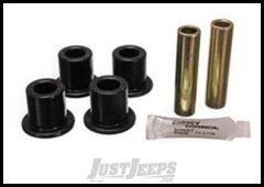 Energy Suspension Polyurethane Front or Rear Leaf Spring Shackle Bushing Kit Black For 87-95 Jeep Wrangler YJ 2.2110G