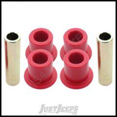 Energy Suspension Polyurethane Front or Rear Leaf Spring Shackle Bushing Kit Red For 87-95 Jeep Wrangler YJ 2.2110R