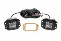 "Rough Country 2"" Square Flush Mount Cree LED Lights Black Series -Spot 70803BL"