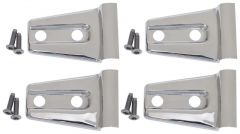 Kentrol Body Door Hinge Overlays in Polished Stainless Steel For 2007-18 Jeep Wrangler JK 2 Door Models (4-Piece) 30020