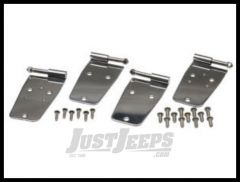 Kentrol Stainless Steel Full Door Hinges For 1976-93 Jeep CJ & Wrangler YJ (Polished) 30420