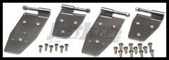 Kentrol Stainless Steel Full Door Hinges For 1994-95 Jeep Wrangler YJ (Polished) 30469