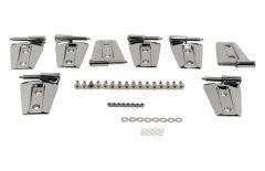 Kentrol Body Door Hinge Set in Polished Stainless Steel For 2007-18 Jeep Wrangler JKU 4 Door Models (8-Piece) 30576