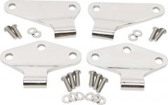 Kentrol Body Door Hinge Set Inner in Polished Stainless Steel For 2007-18 Jeep Wrangler JK 2 Door Models (4-Piece) 30580