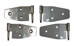 Kentrol Stainless Steel Full & Half Door Hinges For 2003-06 Jeep Wrangler TJ & Unlimited (Polished) 30719