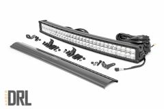 "Rough Country 30"" Curved Cree LED Light Bar (Dual Row) (Chrome Series) 72930D"