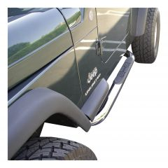 """Aries Automotive 3"""" Round Side Bars In Chrome For 1987-06 Jeep Wrangler YJ & TJ Models 35600-2"""