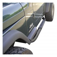 """Aries Automotive 3"""" Round Side Bars In Gloss Black For 1987-06 Jeep Wrangler YJ & TJ Models 35600"""