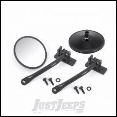 Outland Quick Release Round Mirror Kit For 1997-18 Jeep Wrangler TJ Models & JK 2 Door Or Unlimited 4 Door Models 391102510
