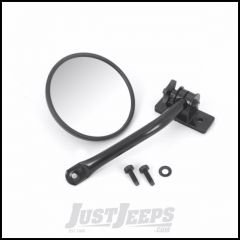 Outland Quick Release Round Mirror Single For 1997-18 Jeep Wrangler TJ Models & JK 2 Door Or Unlimited 4 Door Models 391102511