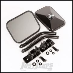 Outland Quick Release Rectangular Mirror Kit For 1997-18 Jeep Wrangler TJ Models & JK 2 Door Or Unlimited 4 Door Models 391102512