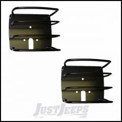 Outland Euro Tail Light Guards (Black) For 1976-06 Jeep CJ Models, Wrangler YJ & Wrangler TJ Models 391122601