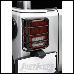 Outland Euro Tail Light Guards (Black) For 2007-18 Jeep Wrangler JK 2 Door & Unlimited 4 Door Models 391122602