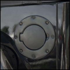 Outland Non-Locking Gas Cap Door Semi-Gloss Powder Coat For 1997-06 Jeep Wrangler TJ & TJ Unlimited Models 391122901