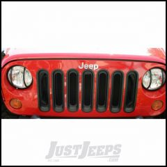 Outland (Black) Grille Inserts For 2007-18 Jeep Wrangler JK 2 Door & Unlimited 4 Door Models 391130630