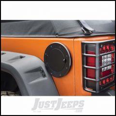 Outland (Black) Aluminum Non-Locking Gas Cap Door For 2007-18 Jeep Wrangler JK 2 Door & Unlimited 4 Door Models 391142505