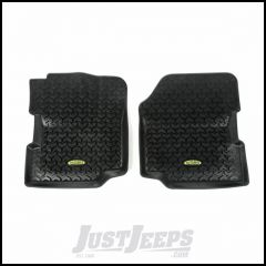 Outland (Black) All Terrain Front Floor Liners For 1976-95 Jeep CJ Series & Wrangler YJ 391292021