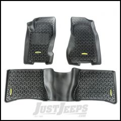 Outland All Terrain Floor Liner Kit (Black) Front & 2nd Row 3-Pc With Custom Fit Rears For 1999-04 Jeep Grand Cherokee WJ 391298732