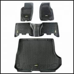 Outland All Terrain Floor Liner Kit (Black) Front, 2nd Row & Cargo Area 4-Pc For 1993-98 Jeep Grand Cherokee 391298831