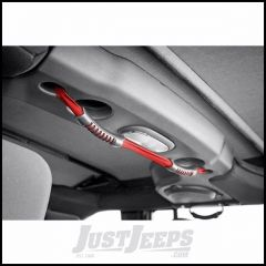 Outland Rear Dual Grab Strap Red For 2007-18 Jeep Wrangler JK Unlimited 4 Door Models 391330513